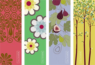 mixed set of 8 Haute Note bookmarks