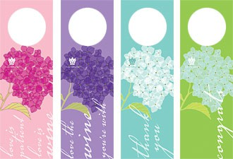 mixed set of 8 hydrangea winetags