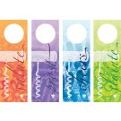 mixed set of 8 batik corkscrew winetags