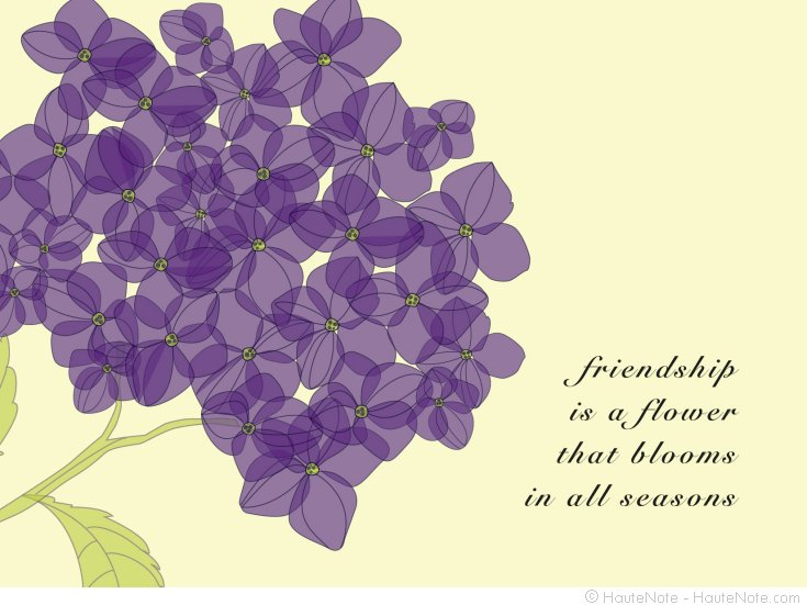 Classic Branches - Hydrangea - friendship is a flower - HauteNote - Personalize your own stationery with a name, message or invitation. - Sold in boxed sets of 8 cards. - hautenote.com
