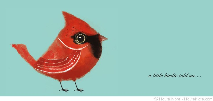 Feathered Friends - Cardinal - a little birdie told me - custom notes - hautenote.com